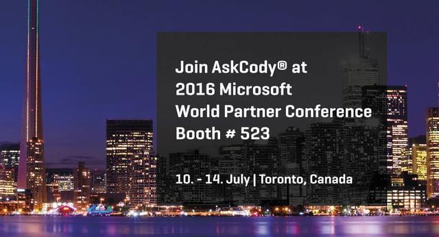 AskCody at Microsoft World Partner Conference 2016 (1)