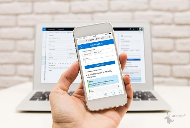 Optimize room booking with AskCody RoomFinder