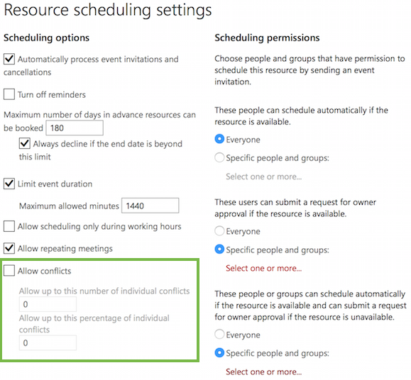 Set Your Allowable Meeting Conflict Rate to 0%