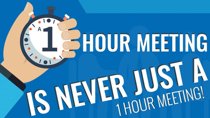 [Infographic] A one hour meeting is never just a one hour meeting
